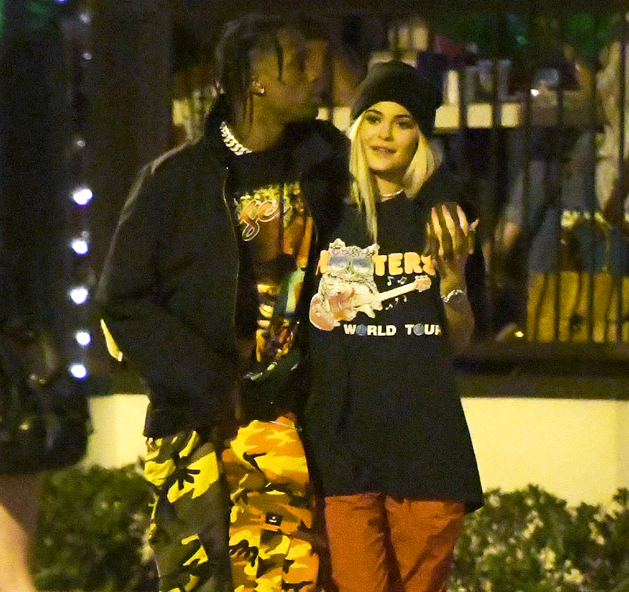 Kylie with her boyfriend Travis Scott