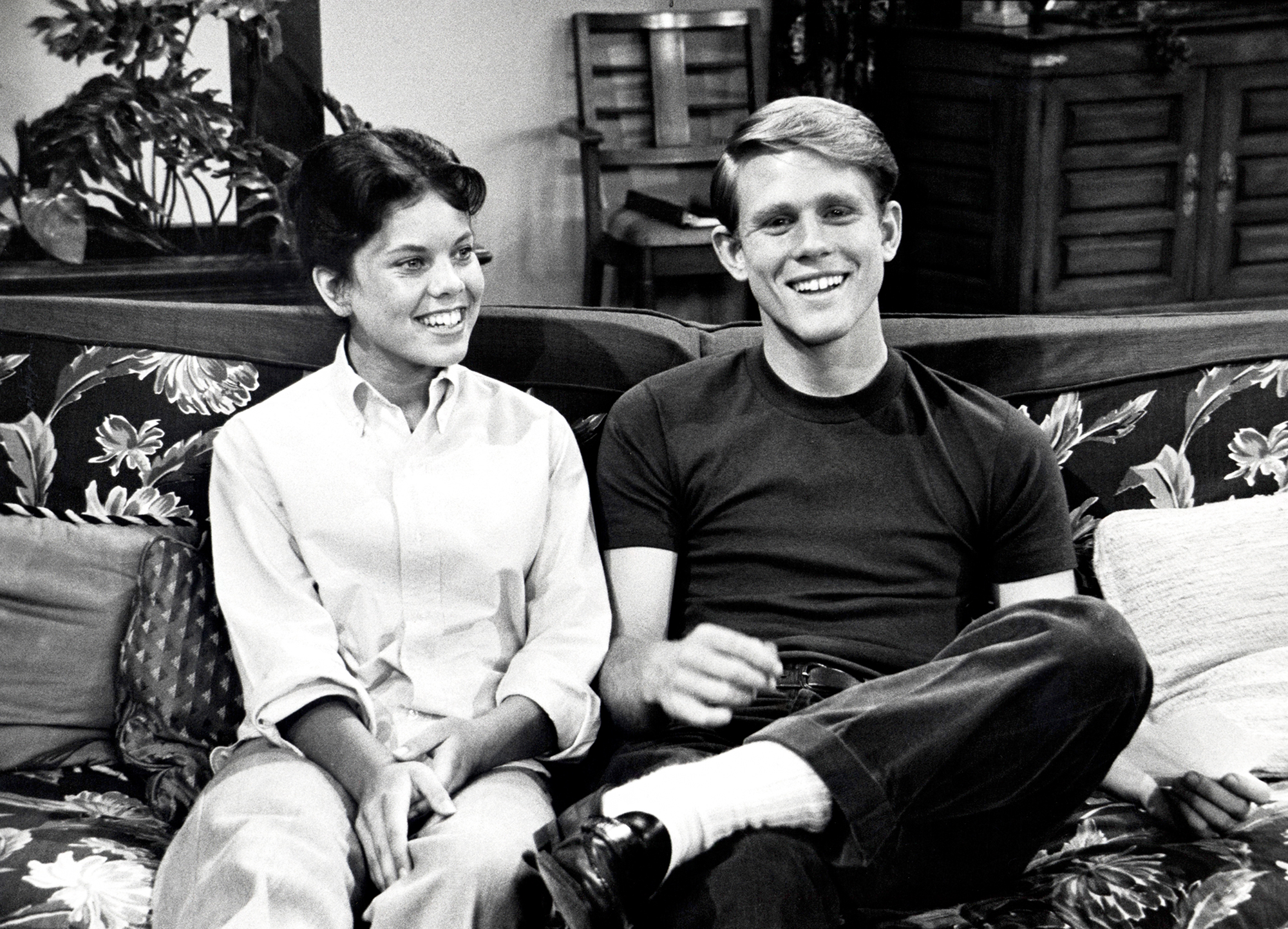 Erin Moran and Ron Howard