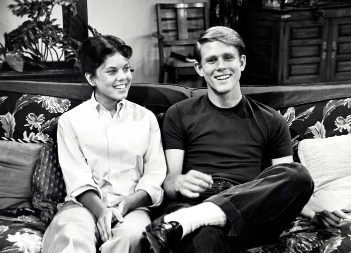 Erin Moran and Ron Howard
