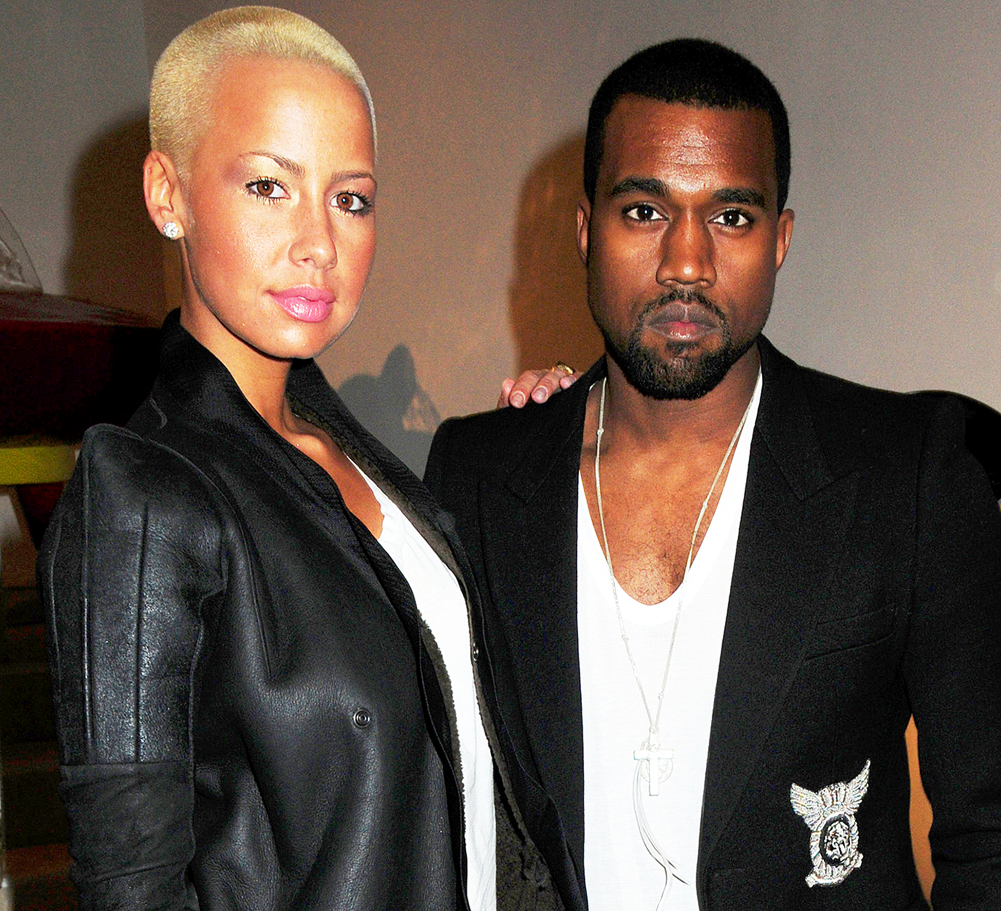 Rose kanye and amber pics west
