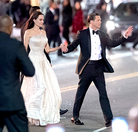 Angelina Jolie and Brad Pitt street