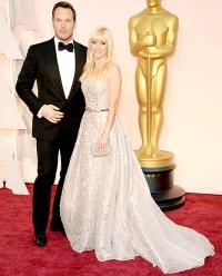 Anna Faris and Chris Pratt at the Oscars