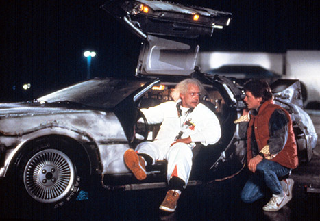 Christopher Lloyd and Michael J. Fox Back to the future