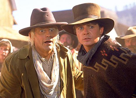 Christopher Lloyd and Michael J. Fox western