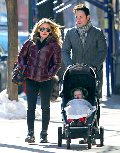 Hilary Duff, Luca and Mike Comrie