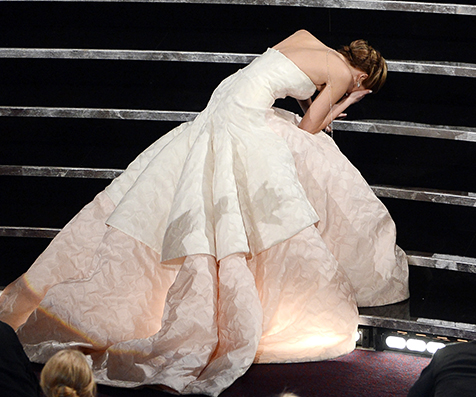 J Law Oscar Fall