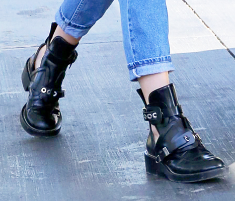 Kendall Jenner Boots Close Up