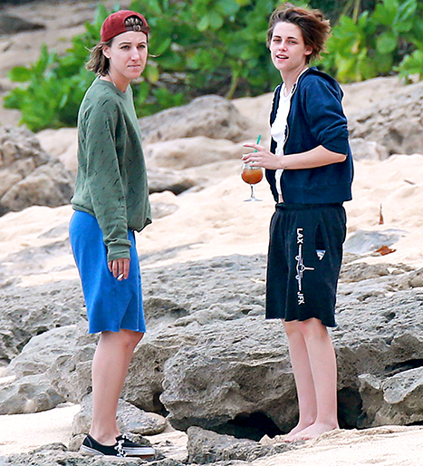 Kristen and friend on the beach