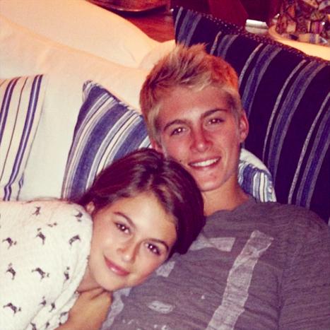 Presley Gerber and Kaia Gerber