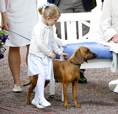 Princess Estelle and a dog