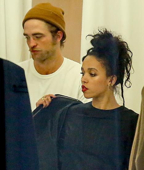 Robert Pattinson and FKA Twigs shopping in Paris