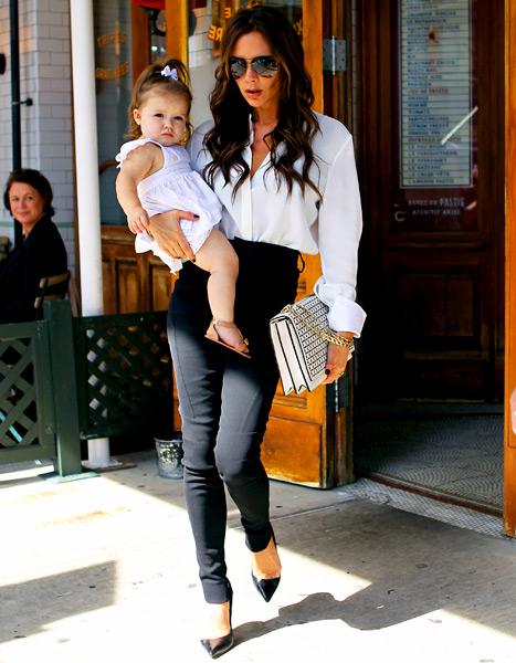 Victoria Beckham and Harper