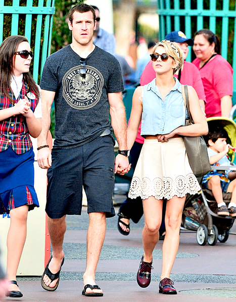 Julianne Hough and Brooks Laich at Disneyland on Valentines day