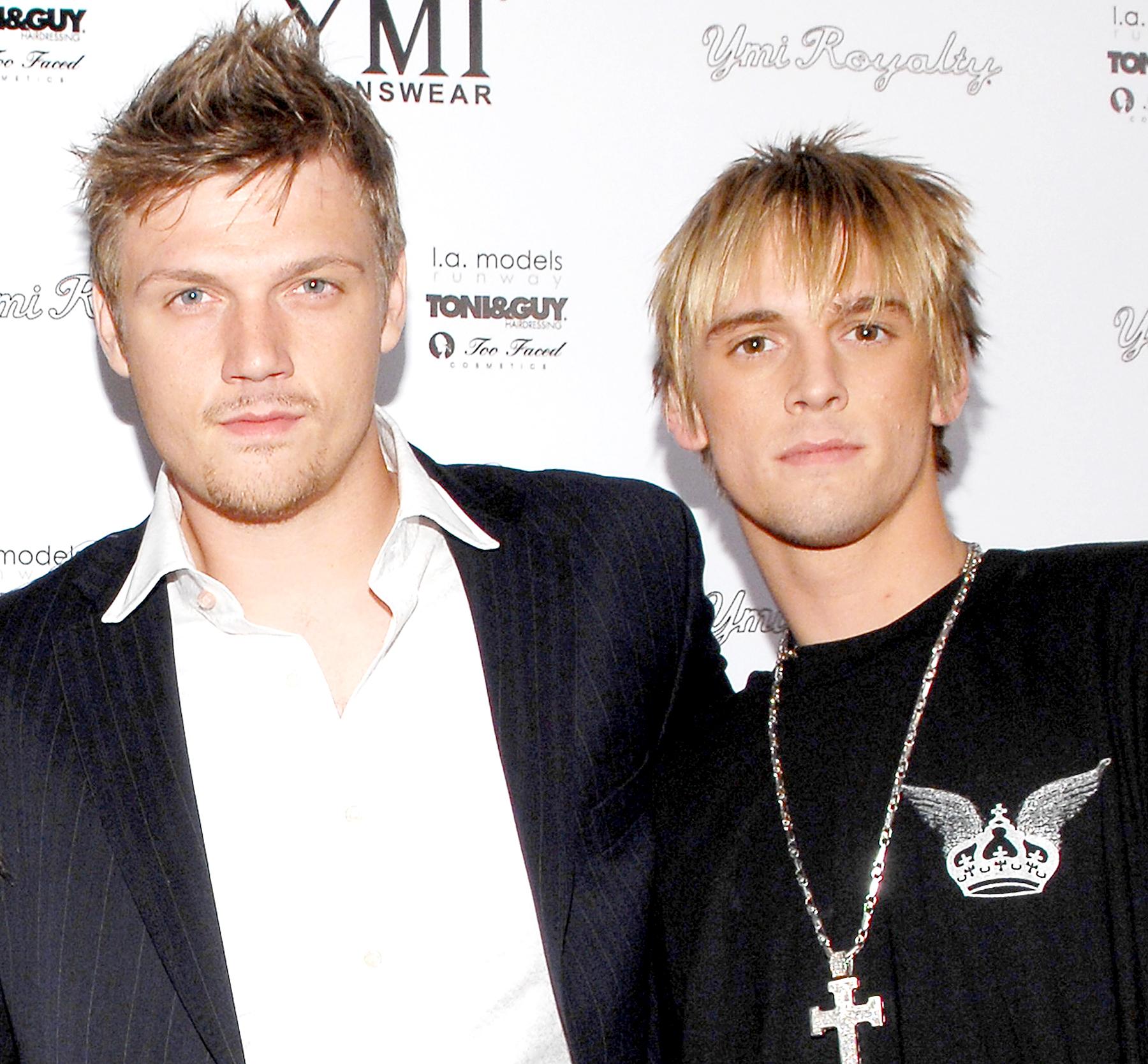 Nick Carter and Aaron Carter in 2006.