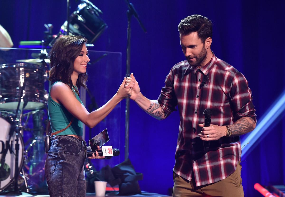 Adam Levine with Christina Grimmie