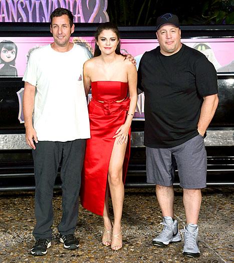 Adam Sandler, Selena Gomez and Kevin James - Hotel Transylvania 2