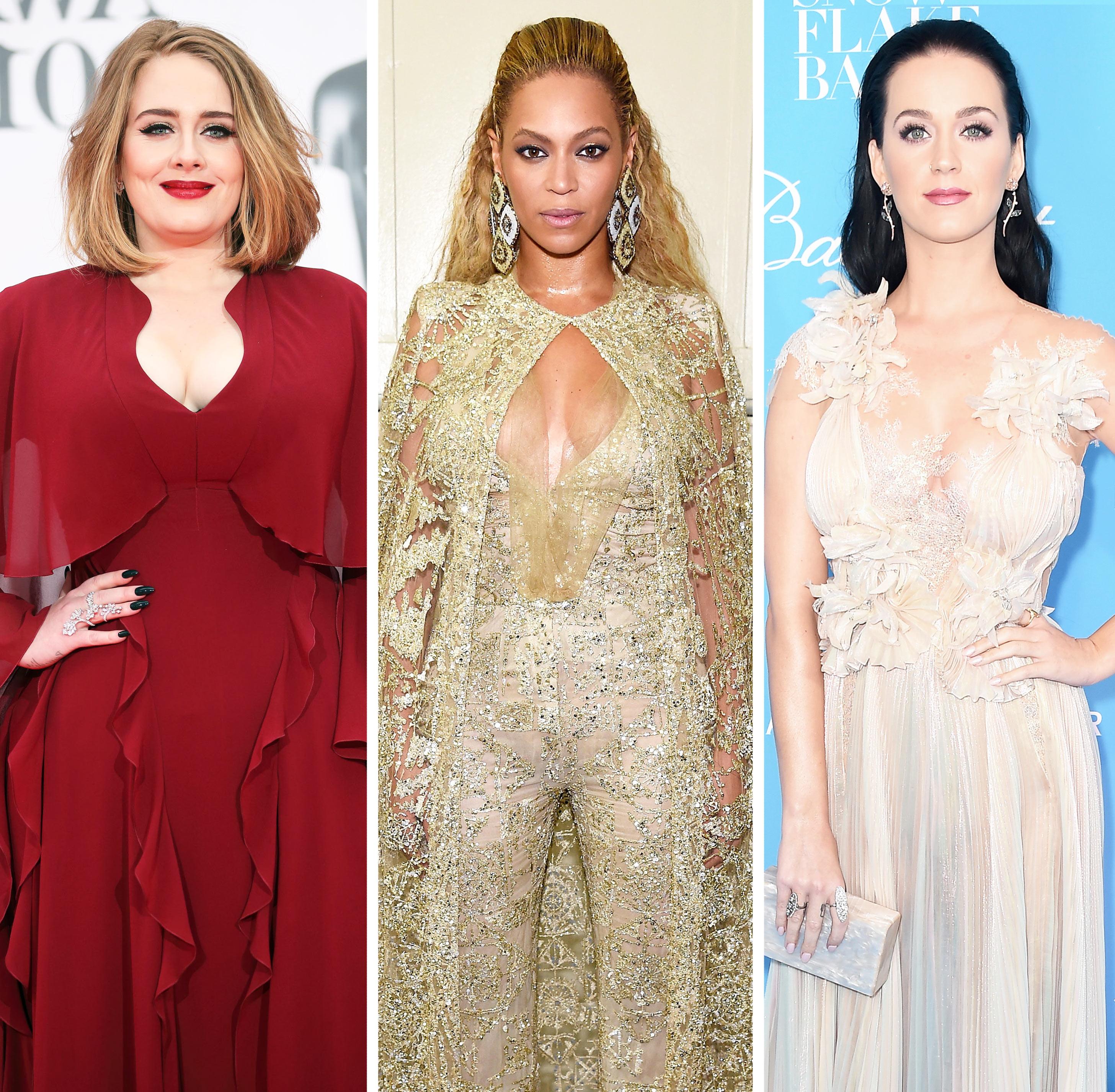 Adele; Beyonce; Katy Perry