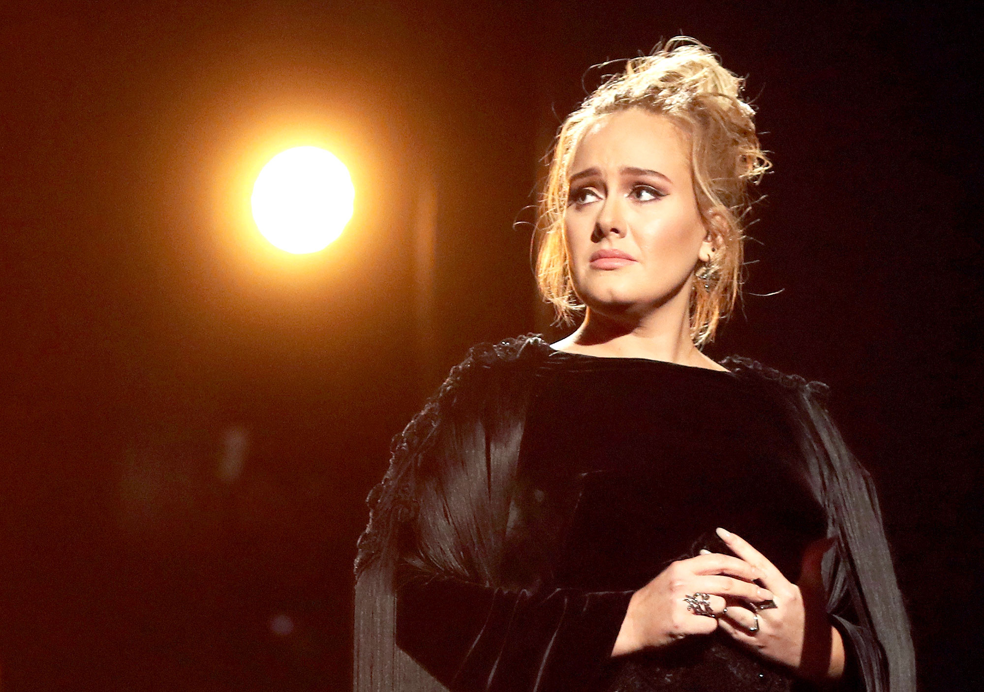 Adele during the 59th Annual Grammy Awards at Staples Center on Feb. 12, 2017, in Los Angeles.
