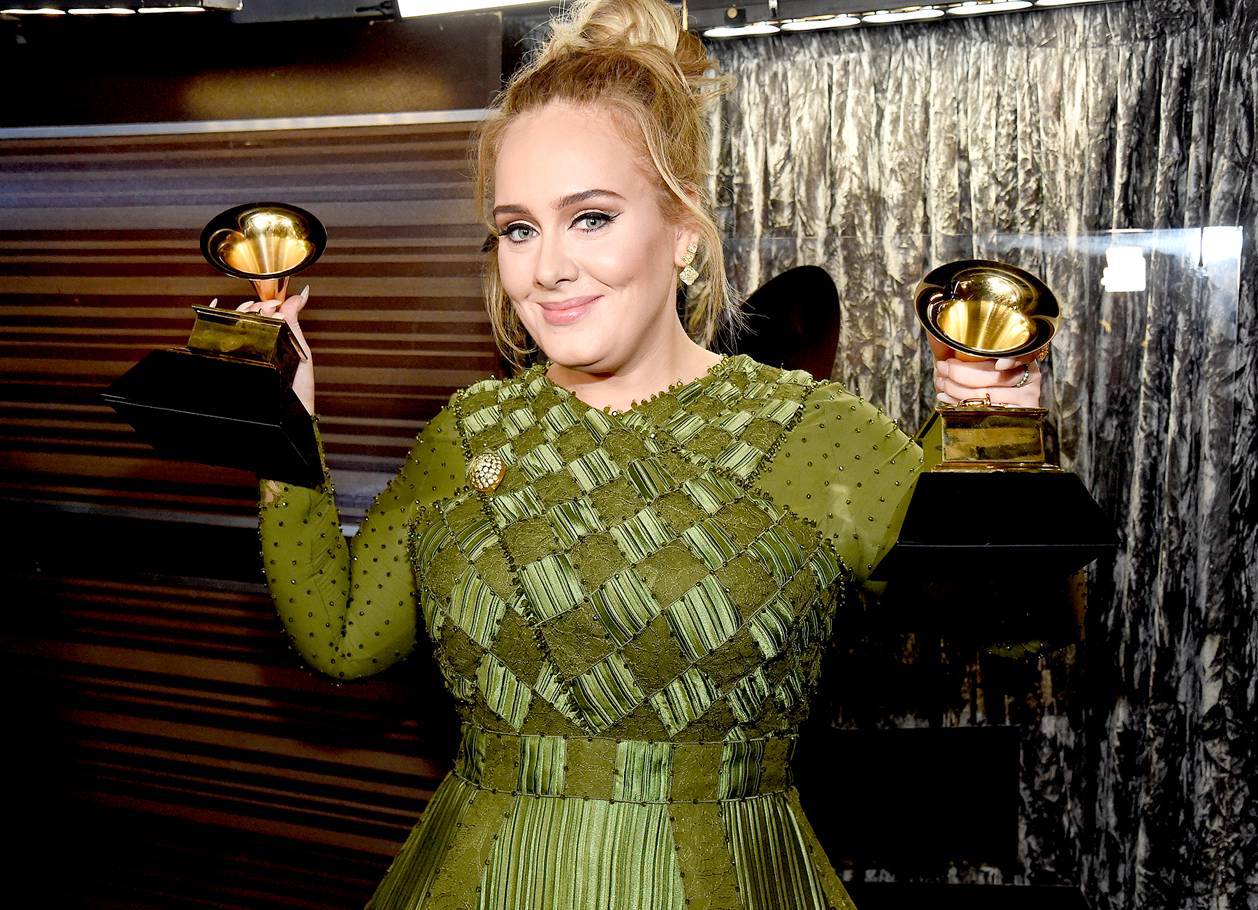 Adele attends the 59th Grammy Awards at Staples Center on Feb. 12, 2017, in Los Angeles.