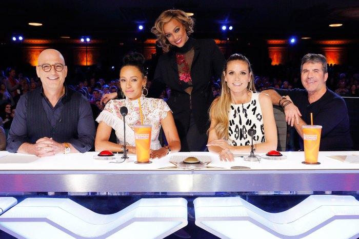 American's Got Talent AGT Howie Mandel Mel B Tyra Banks Heidi Klum Simon Cowell