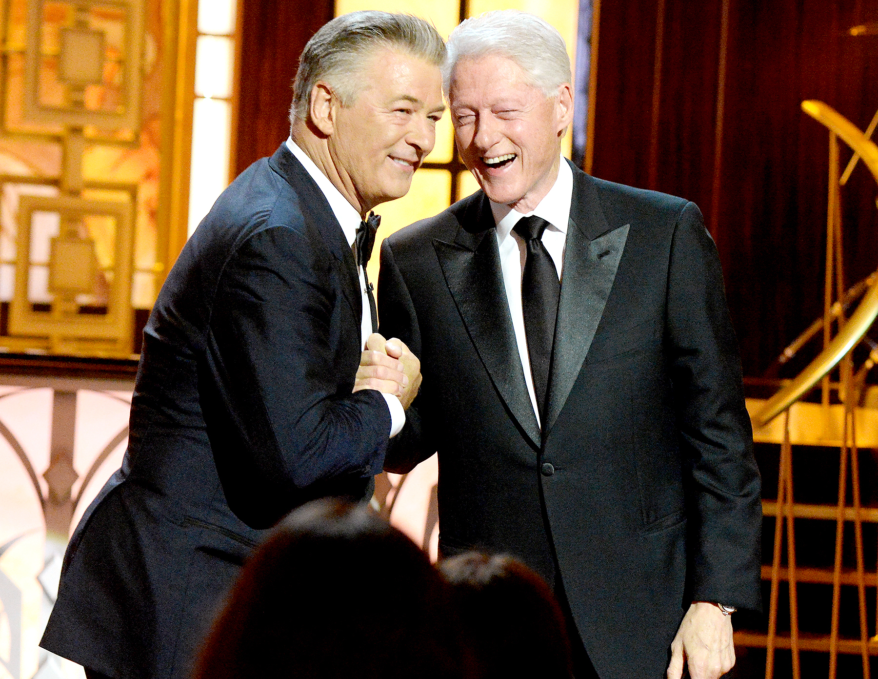 "Alec Baldwin and Former United States President Bill Clinton attend ""Spike's One Night Only: Alec Baldwin"" at The Apollo Theater on June 25, 2017 in New York City."