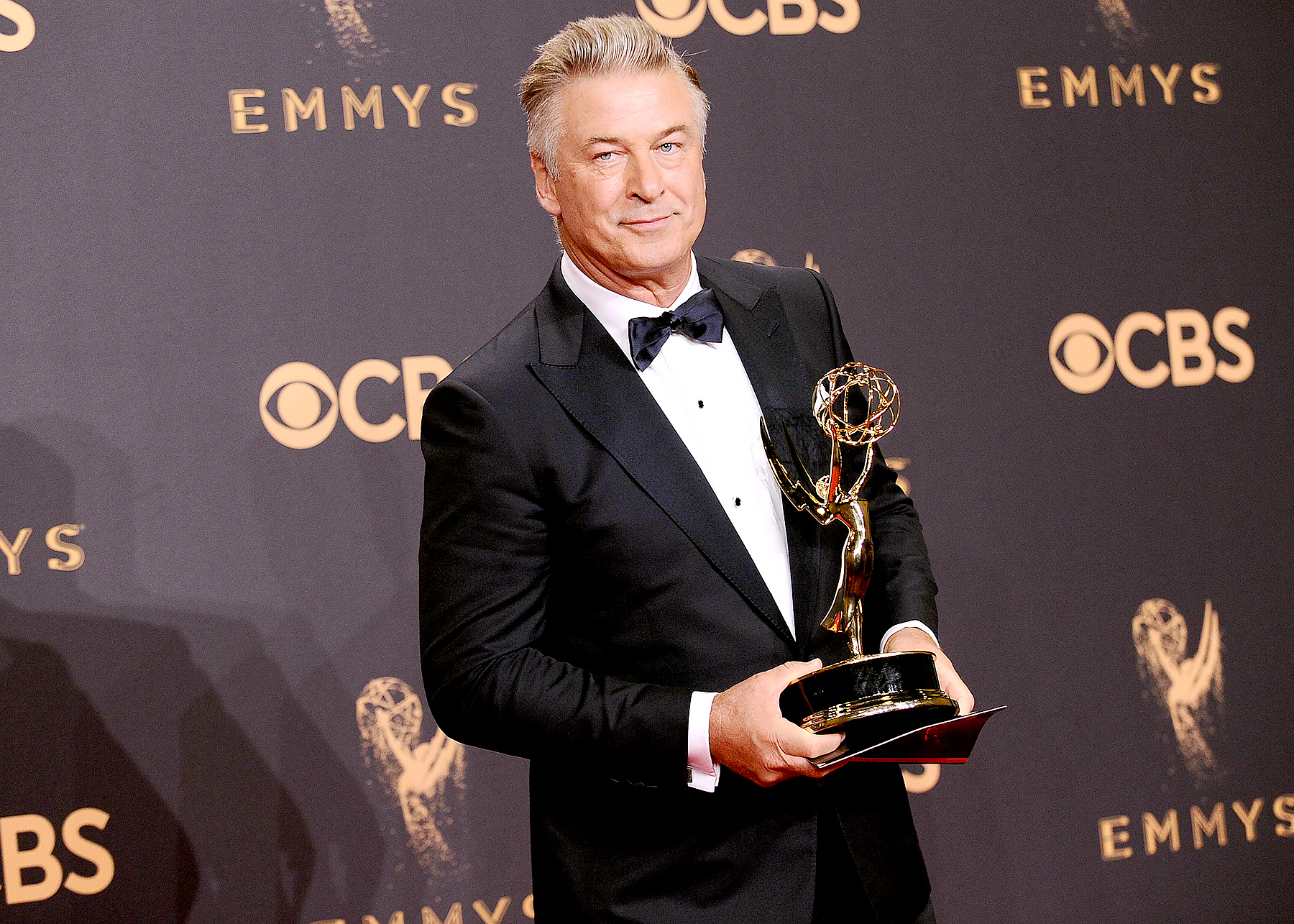 Alec Baldwin poses in the press room at the 69th annual Primetime Emmy Awards at Microsoft Theater on September 17, 2017 in Los Angeles, California.