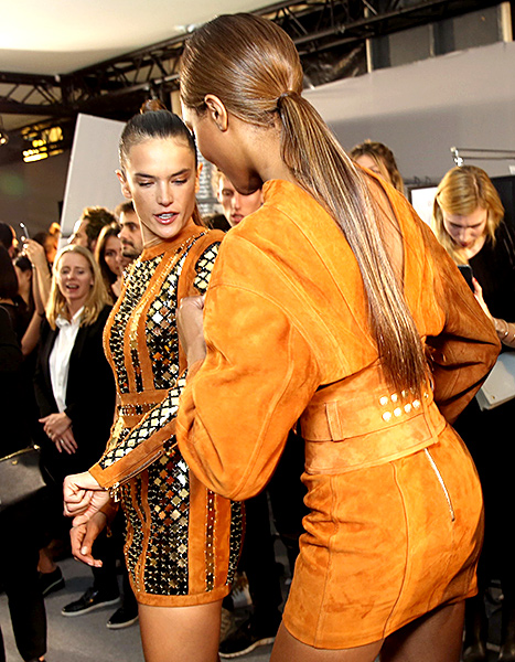 Alessandra Ambrosio and Jourdan Dunn