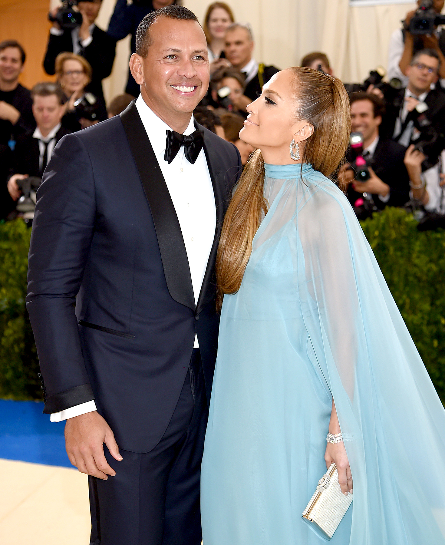 "Alex Rodriguez and Jennifer Lopez attend the ""Rei Kawakubo/Comme des Garcons: Art Of The In-Between"" Costume Institute Gala at Metropolitan Museum of Art on May 1, 2017 in New York City."