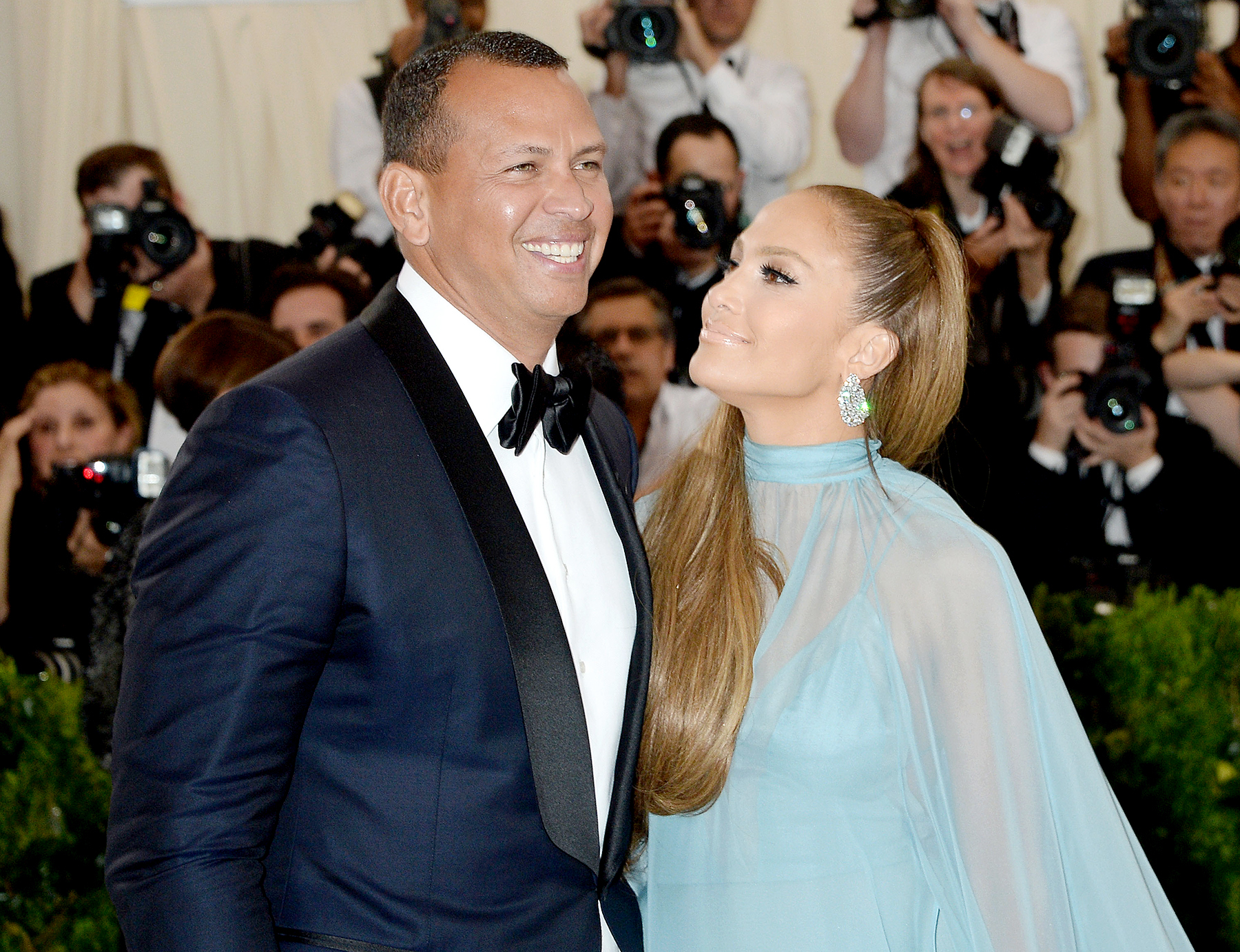 Alex Rodriguez and Jennifer Lopez arrive at 2017 Costume Institute Benefit celebrating the opening of Rei Kawakubo/Comme des Garçons: Art of the In-Between at the Metropolitan Museum of Art in New York City, New York on May 1, 2017.