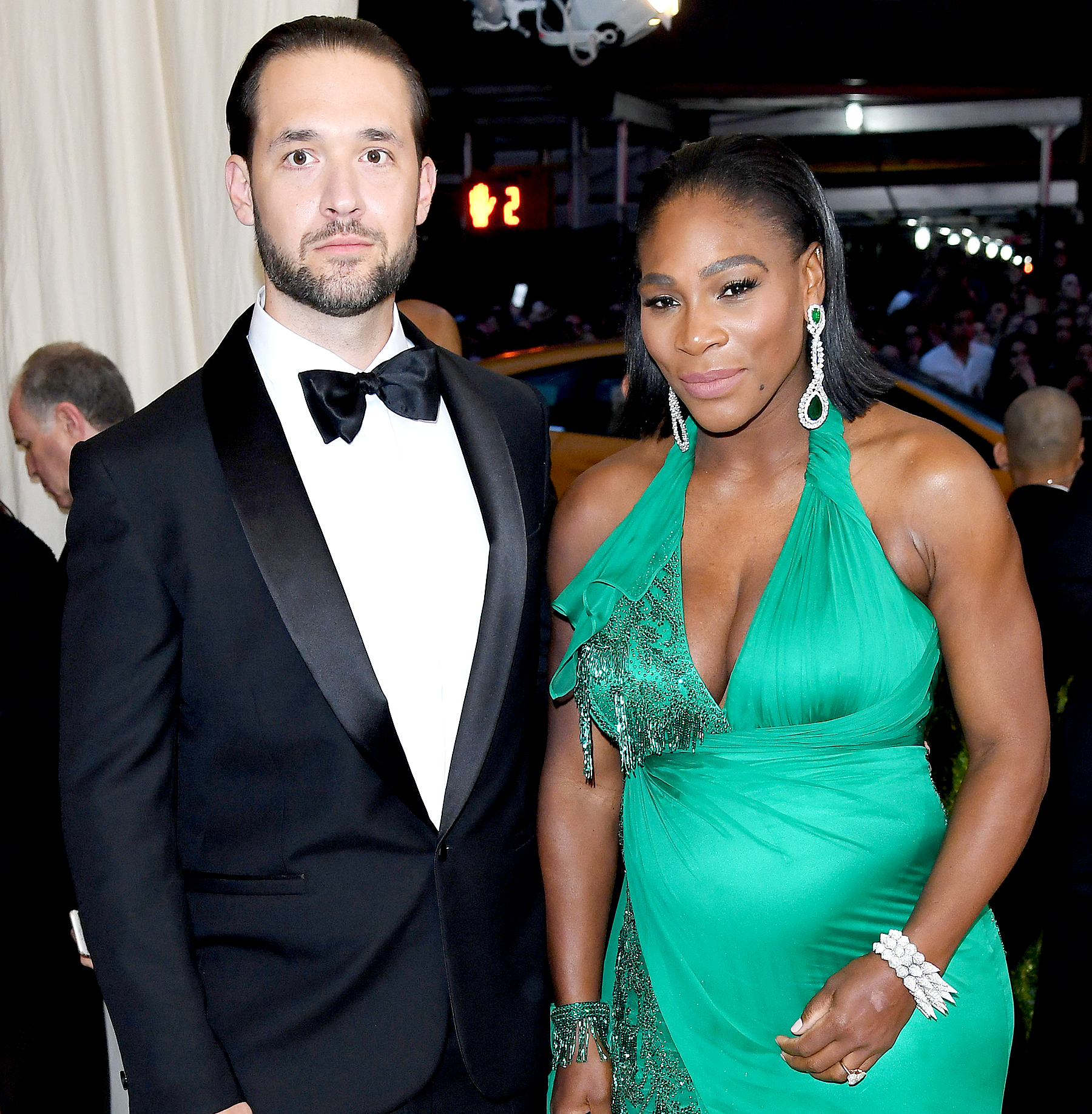 "Alexis Ohanian and Serena Williams attend the ""Rei Kawakubo/Comme des Garcons: Art Of The In-Between"" Costume Institute Gala at the Metropolitan Museum of Art on May 1, 2017 in New York City."