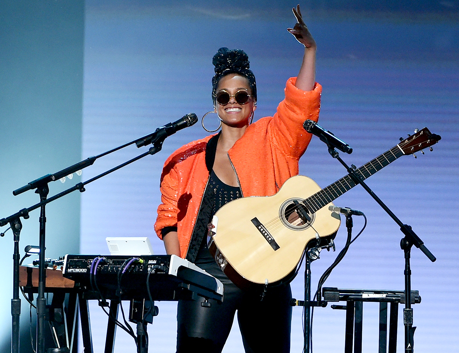 Alicia Keys performs onstage during the 2016 BET Awards.