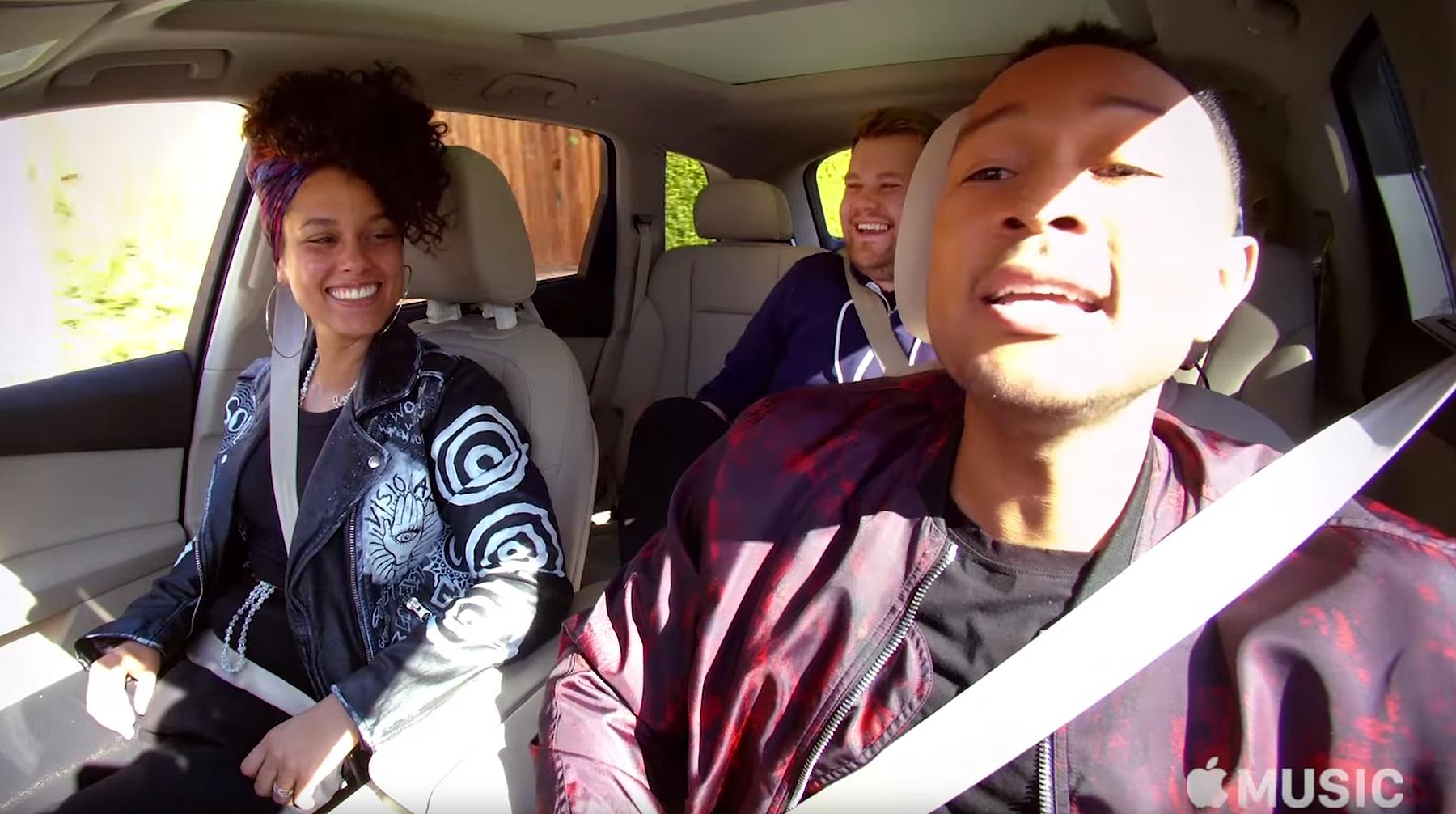 Alicia Keys, James Corden, and John Legend do Carpool Karaoke