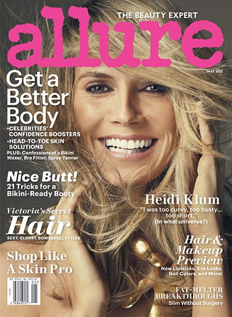 Heidi Klum on Allure Cover