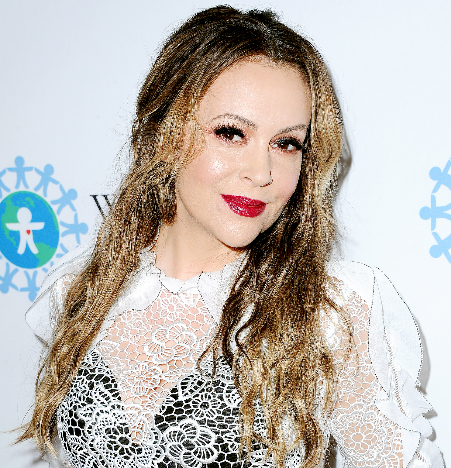 Alyssa Milano arrives at the 2017 World Of Children Hero Awards at Montage Beverly Hills on April 19, 2017 in Beverly Hills, California.
