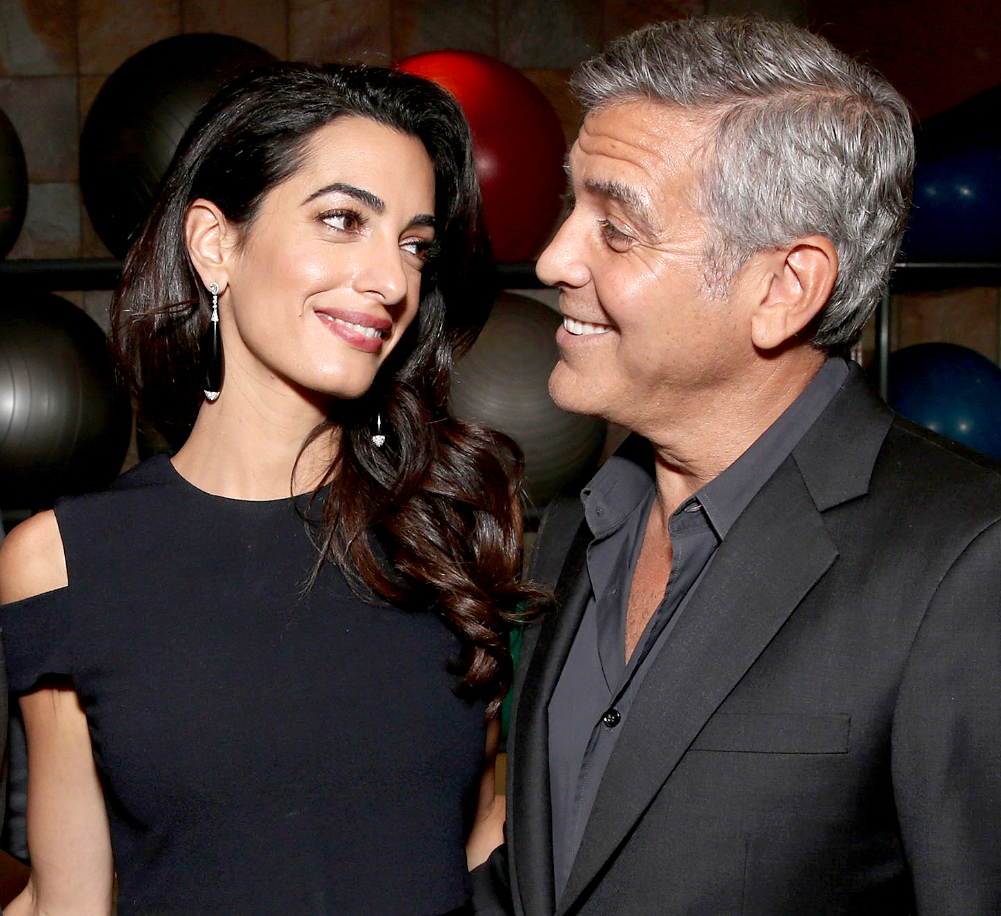 Amal Clooney and George Clooney attend the MPTF 95th anniversary celebration with 'Hollywood's Night Under the Stars' at MPTF Wasserman Campus on Oct. 1, 2016, in Los Angeles.