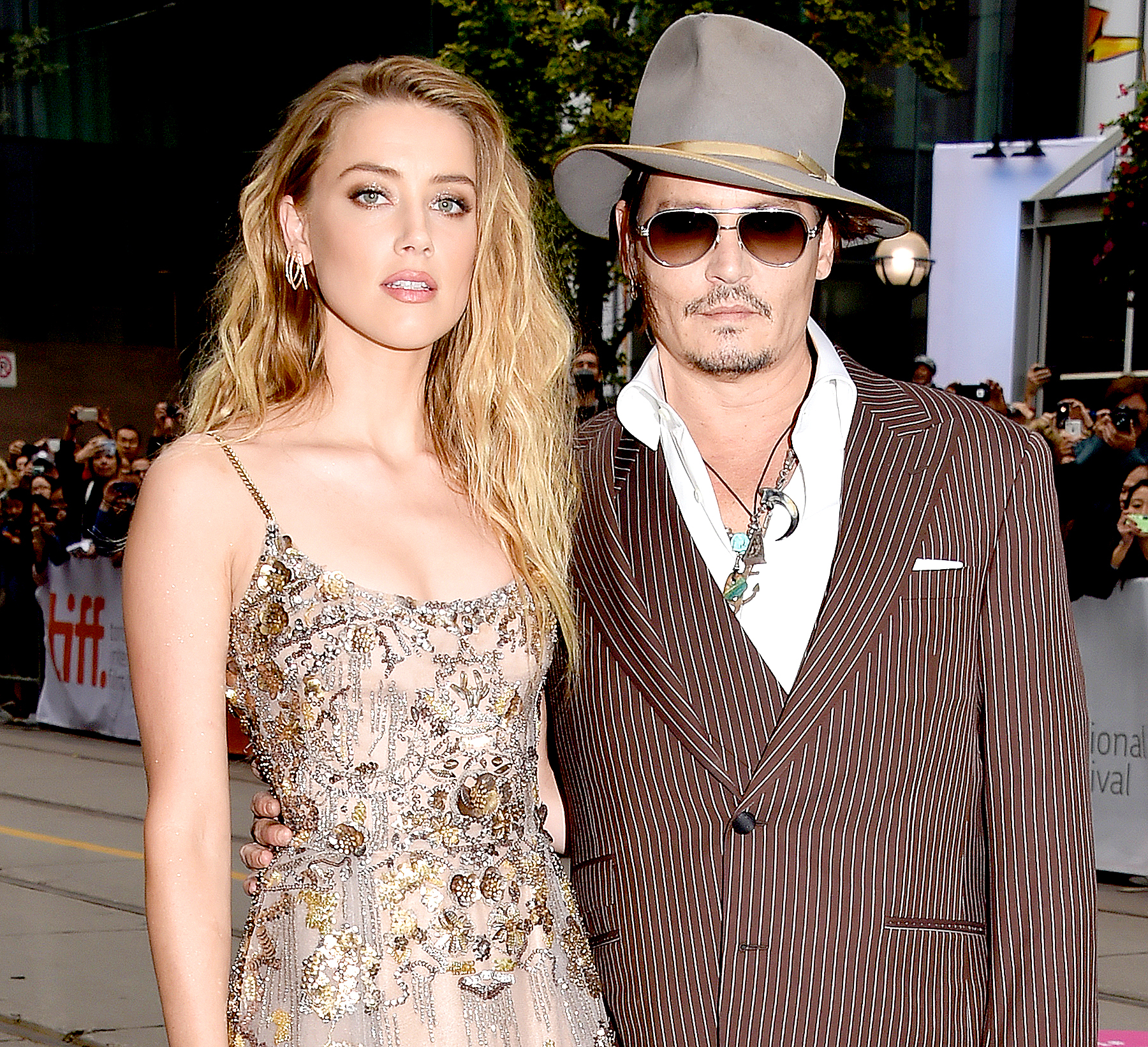 Amber Heard and Johnny Depp attend 'The Danish Girl' premiere during the 2015 Toronto International Film Festival.