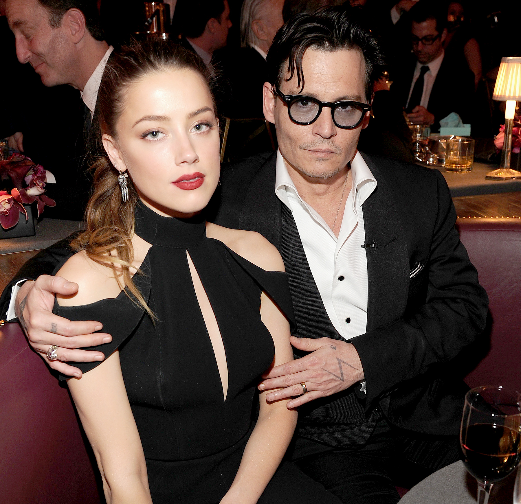 Amber Heard and Johnny Depp attend Spike TV's