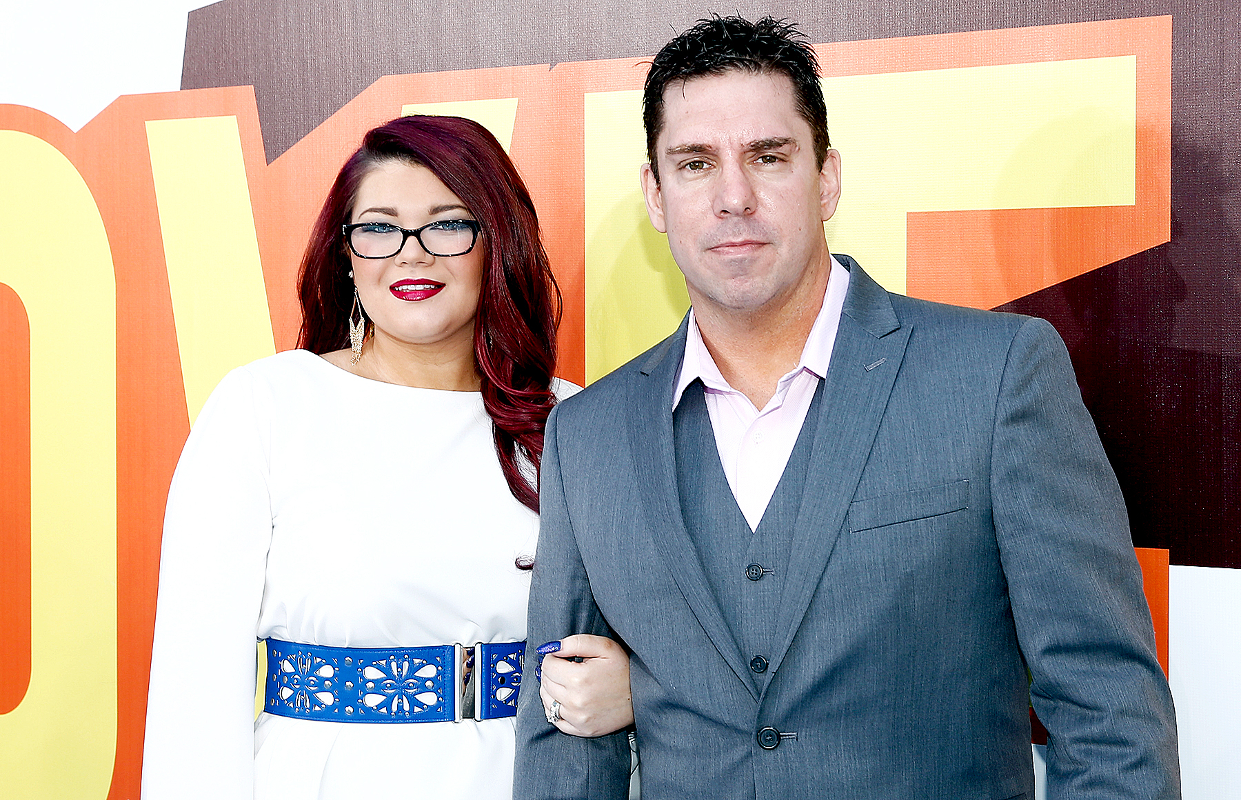 Amber Portwood and Matt Baier attend The 2015 MTV Movie Awards at Nokia Theatre L.A. Live on April 12, 2015 in Los Angeles, California.