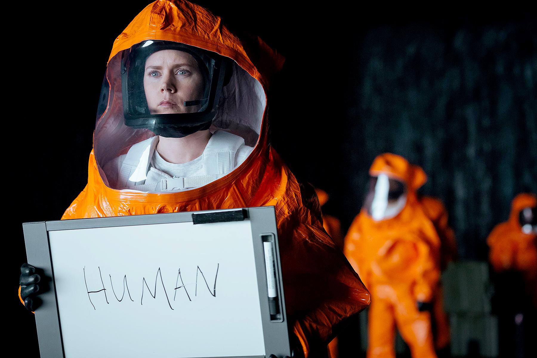 Amy Adams in Arrival.