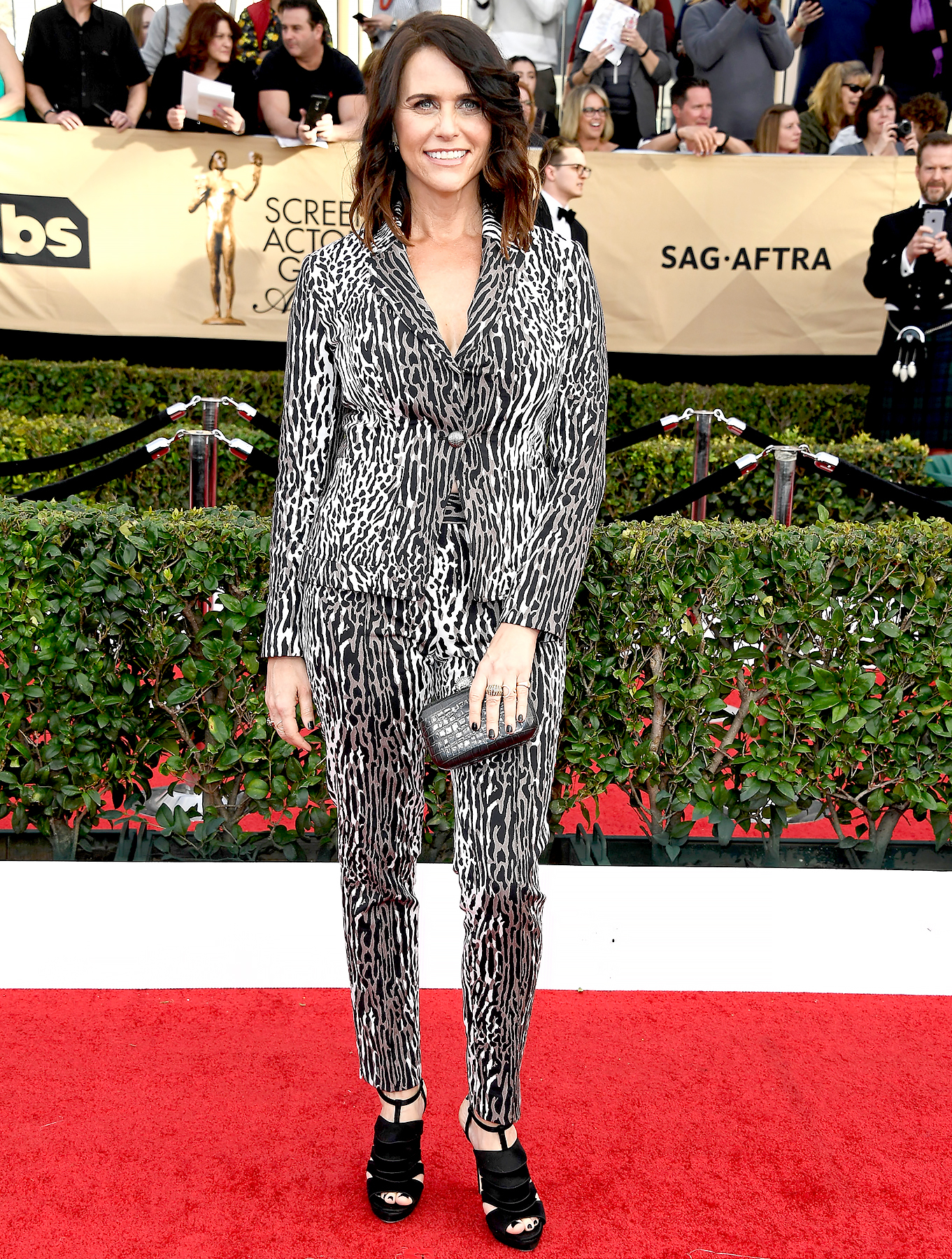 Amy Landecker attends The 23rd Annual Screen Actors Guild Awards.