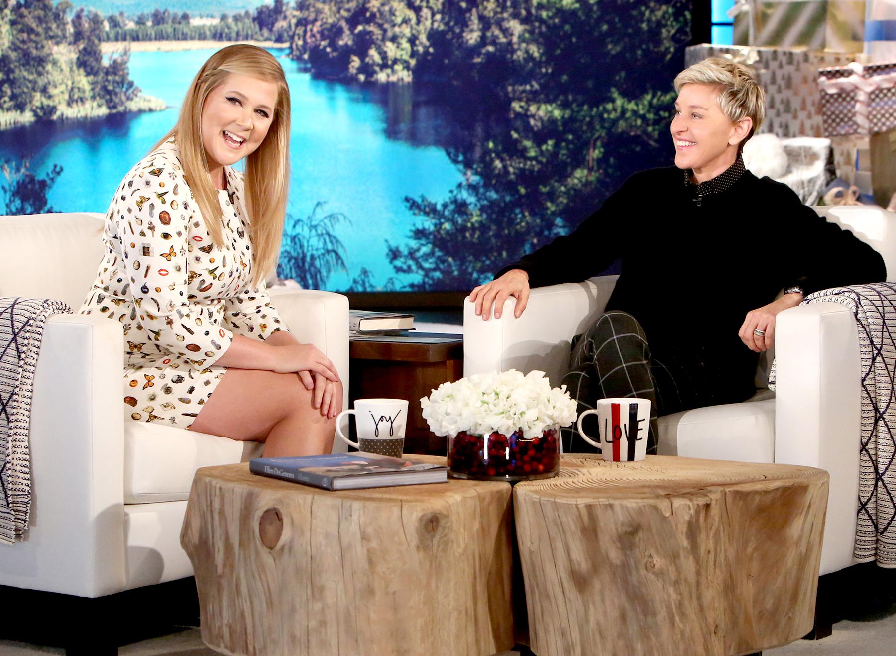 Amy Schumer and Ellen DeGeneres