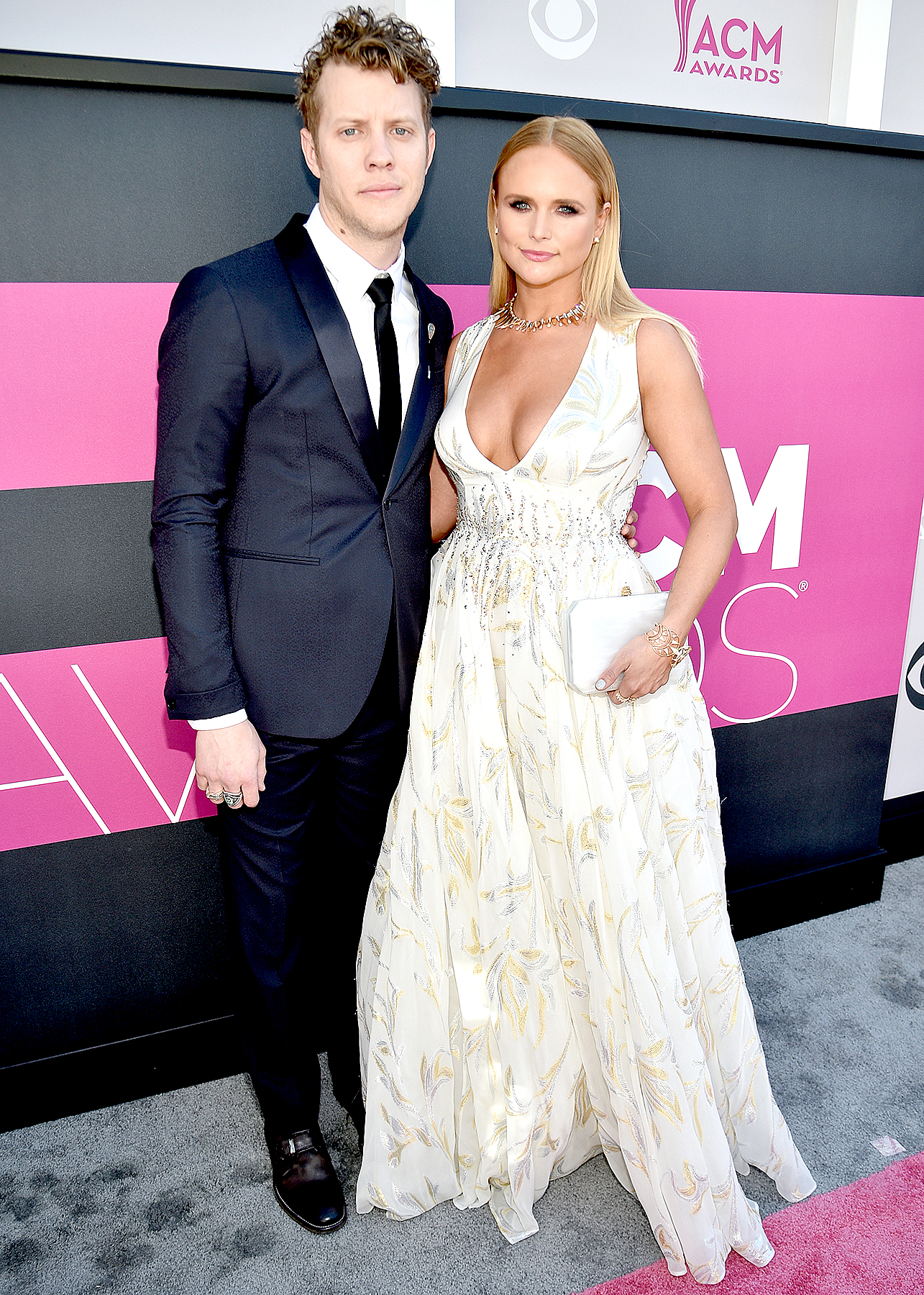 Anderson East and Miranda Lambert attend the 52nd Academy of Country Music Awards at Toshiba Plaza on April 2, 2017 in Las Vegas, Nevada.