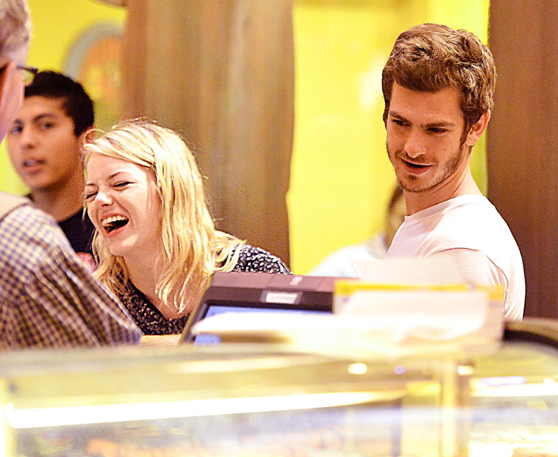Emma Stone and Andrew Garfield at Disneyland in 2012.