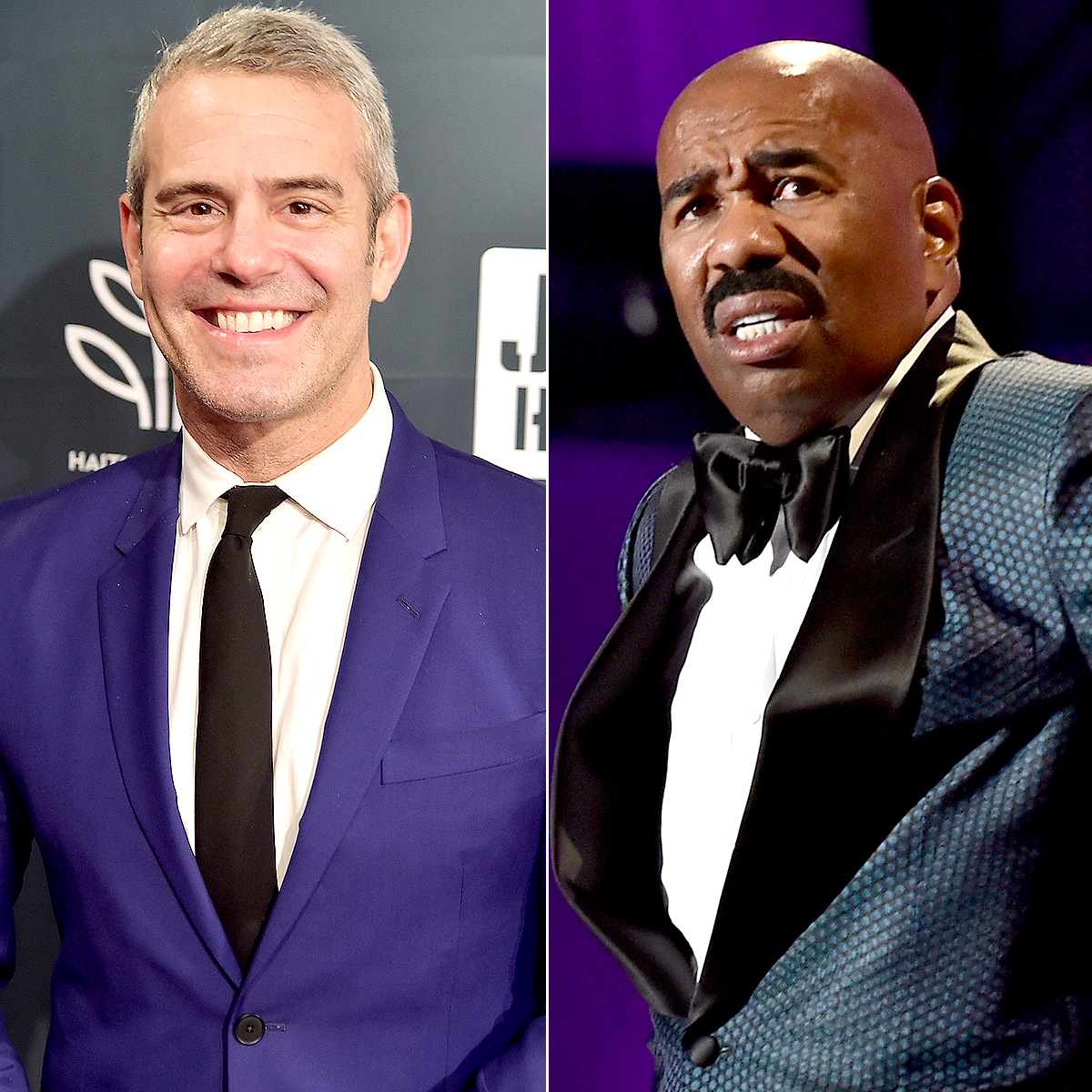 Andy Cohen and Steve Harvey