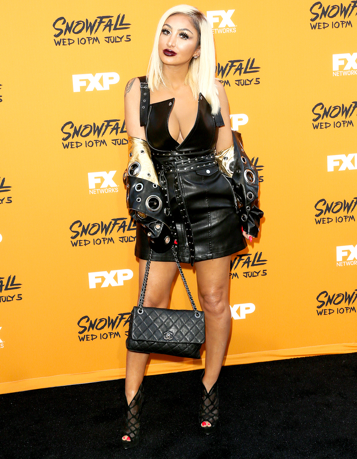"""Fashion Designer Angel Brinks attends the premiere of FX's """"Snowfall"""" at The Theatre at Ace Hotel on June 26, 2017 in Los Angeles, California."""