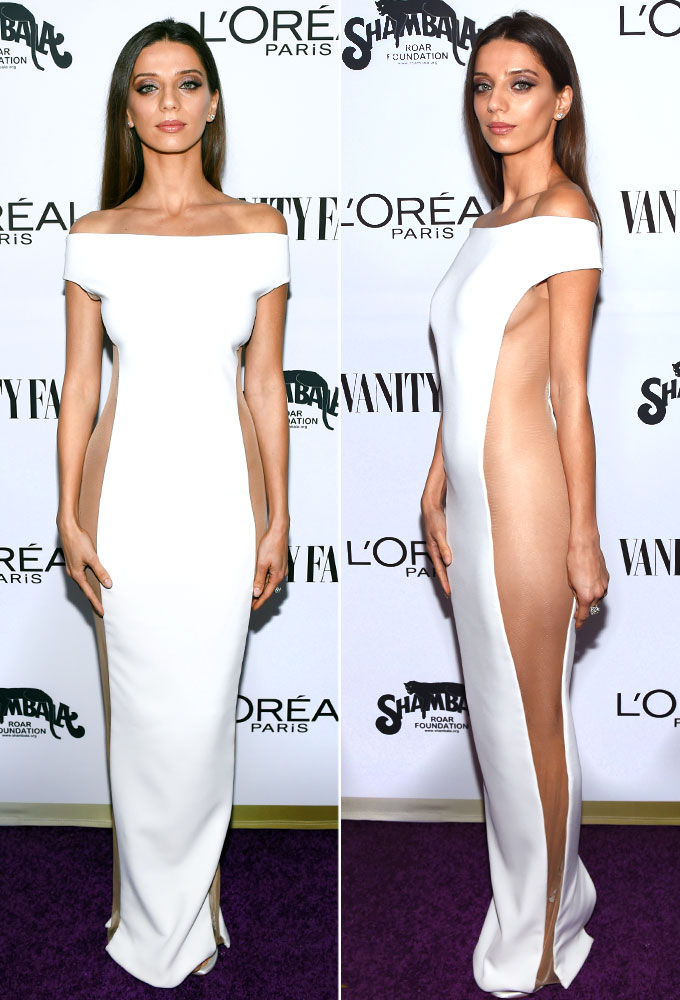 Westworld Actress Angela Sarafyan Left Her Underwear At Home To Wear This Sheer Dress Vanity Fair And L Oreal Paris Toast Young Hollywood On