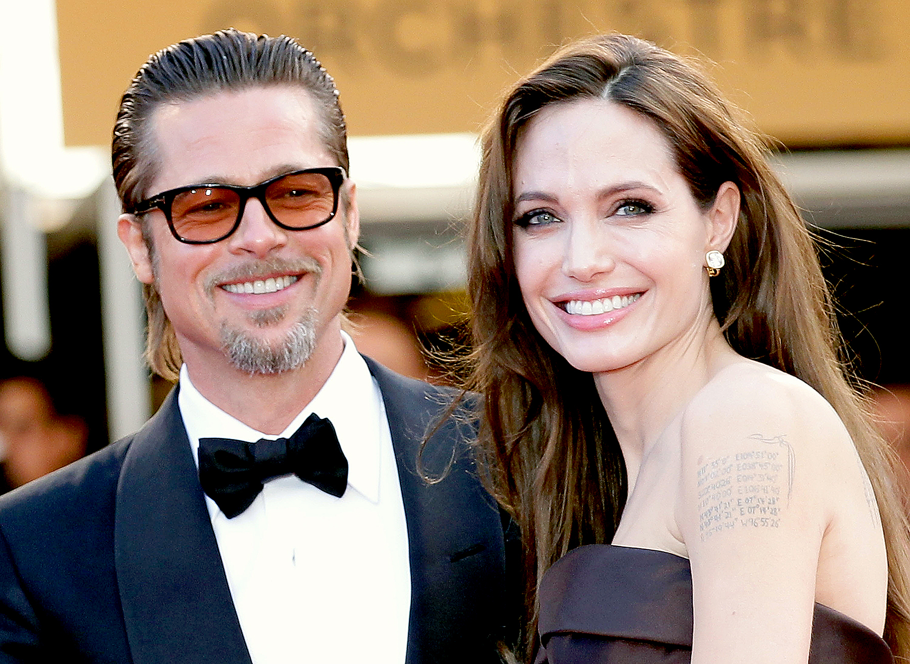 "Angelina Jolie and Brad Pitt attend ""The Tree Of Life"" premiere during the 64th Annual Cannes Film Festival at Palais des Festivals on May 16, 2011 in Cannes, France."