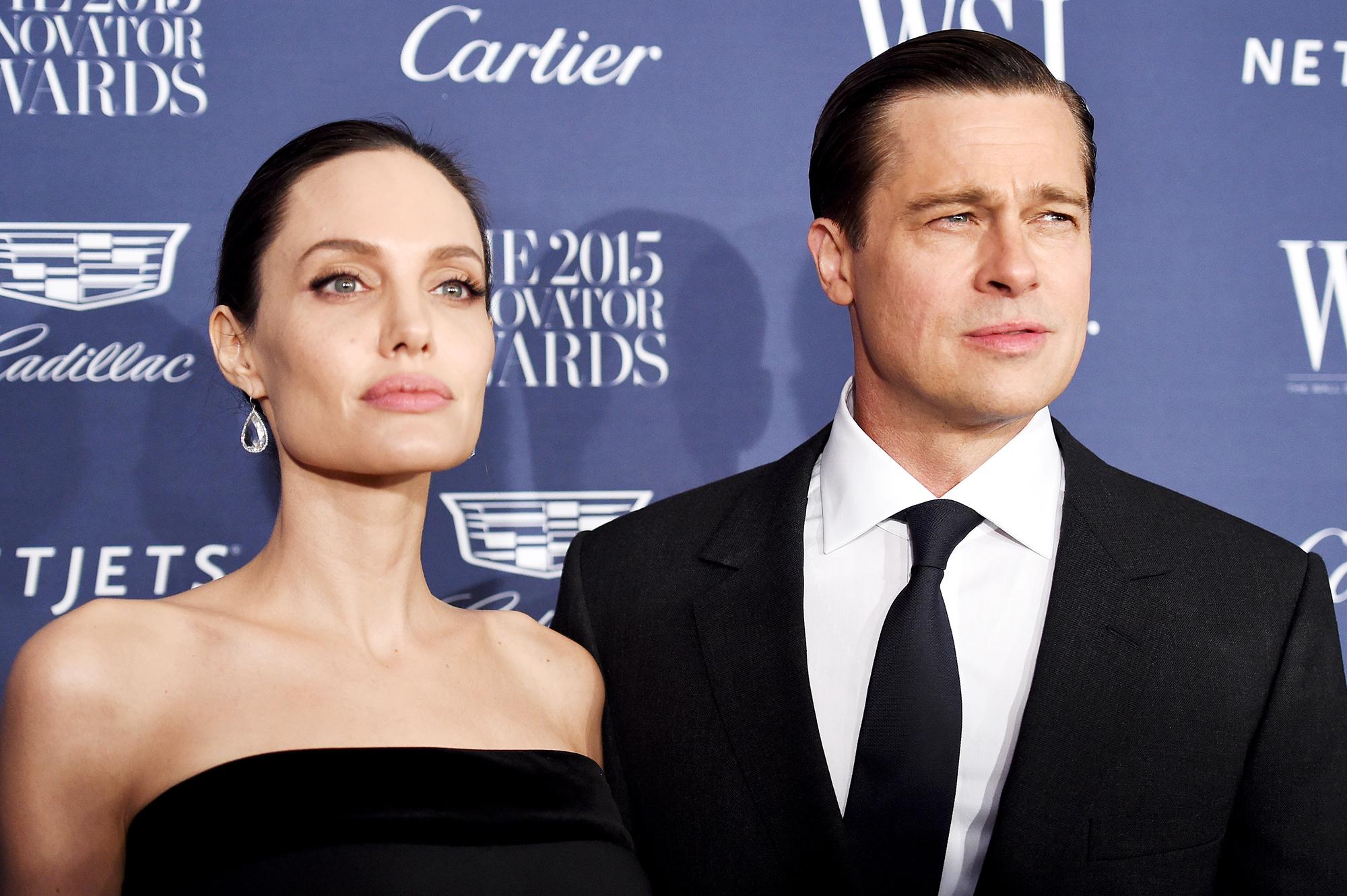 2015 Entertainment Innovator Angelina Jolie-Pitt and Brad Pitt