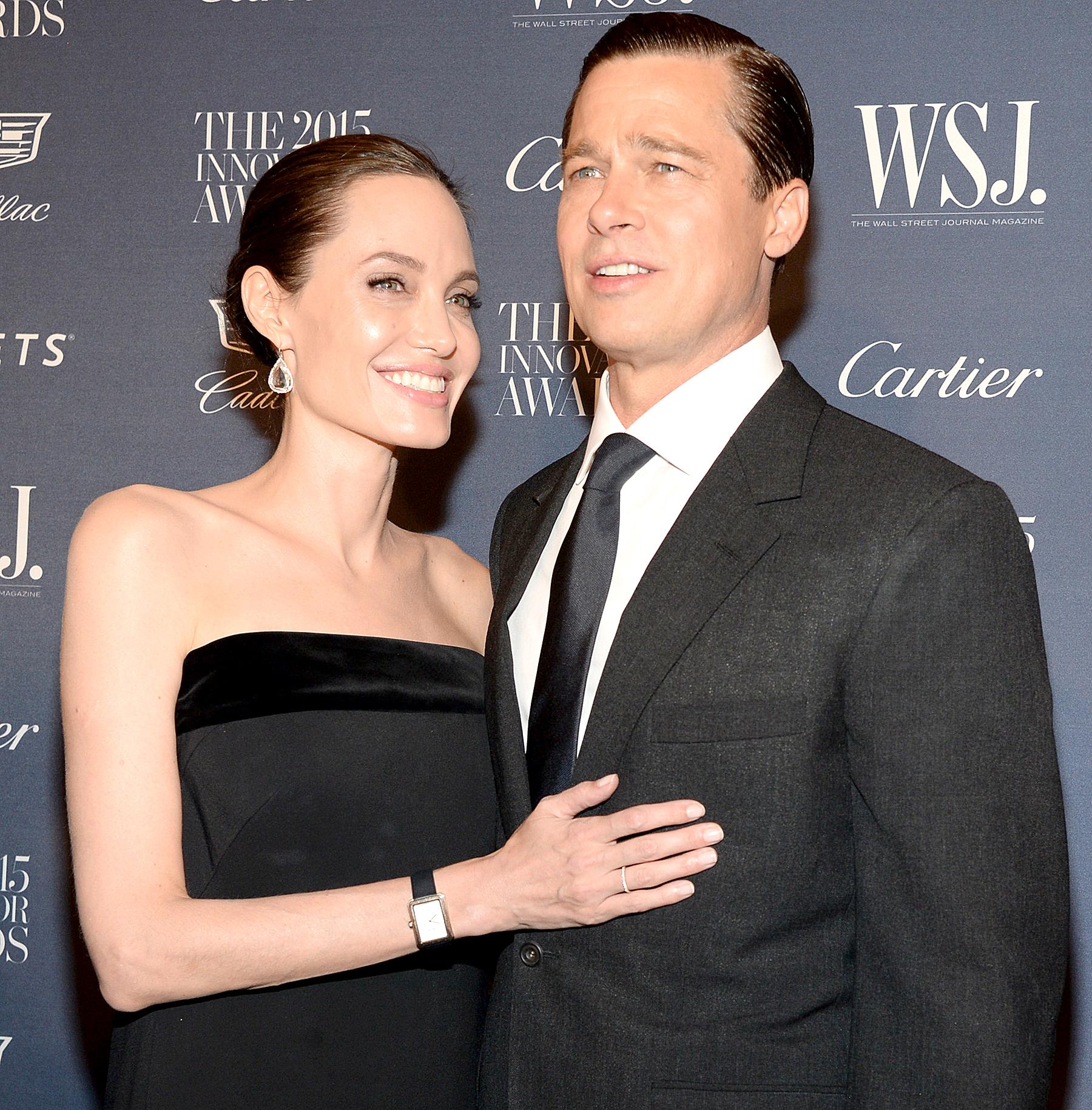 Angelina Jolie and Brad Pitt attend the WSJ. Magazine 2015 Innovator Awards at the Museum of Modern Art on November 4, 2015 in New York City.