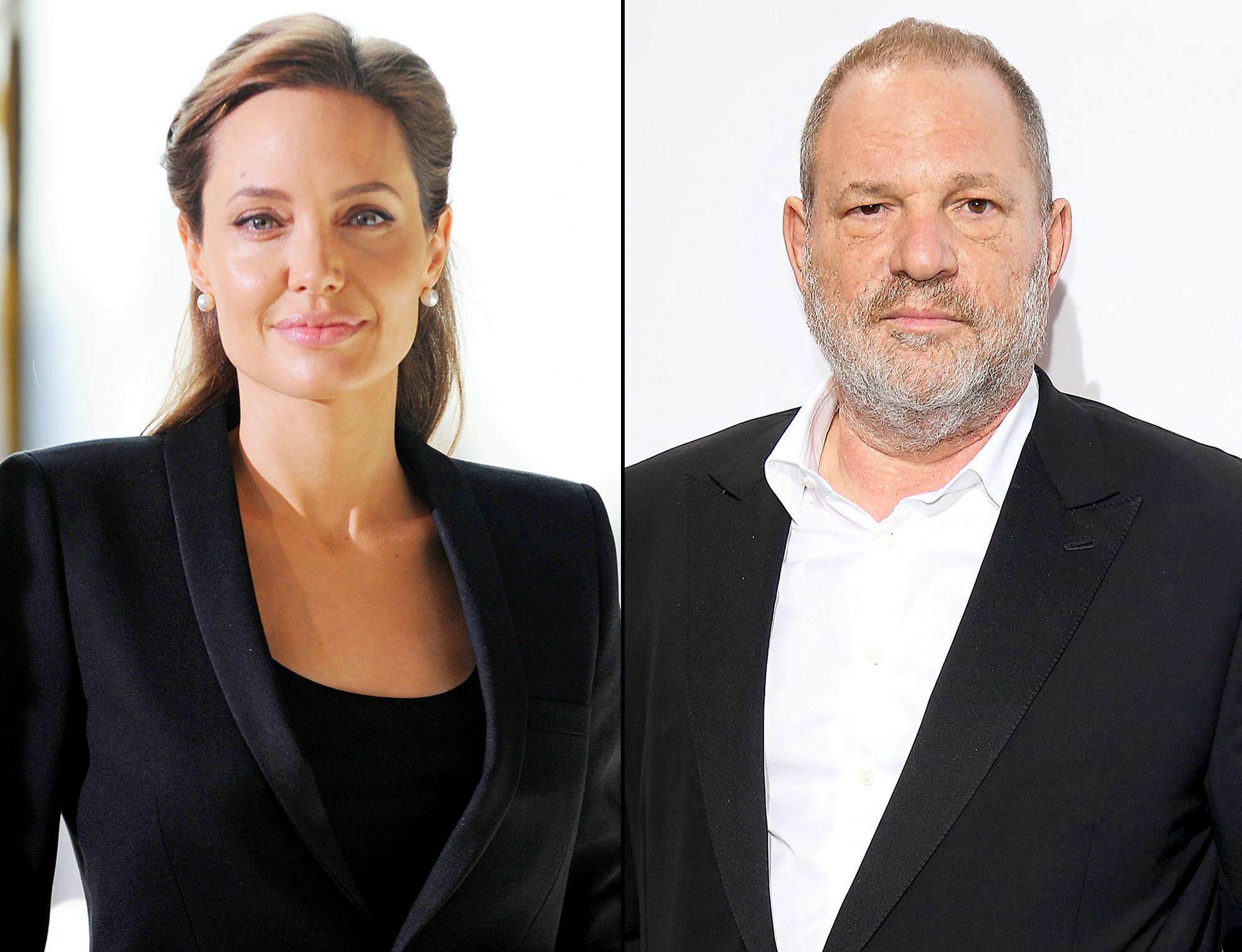 Angelina Jolie and Harvey Weinstein